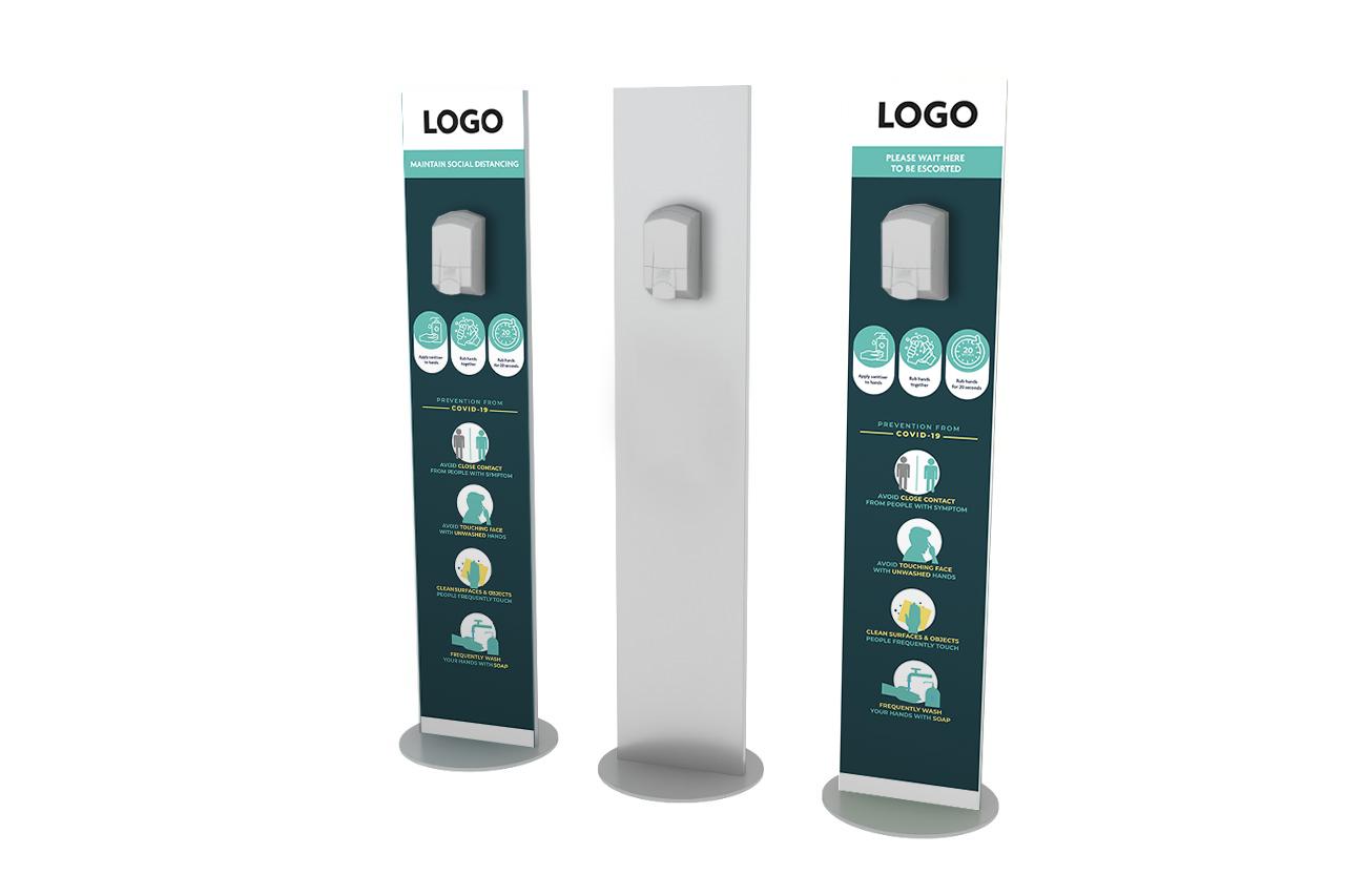 Logo stand dispenser