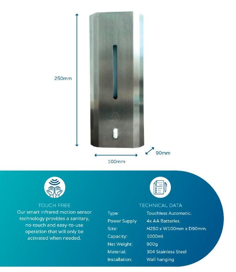 1L dispenser steel